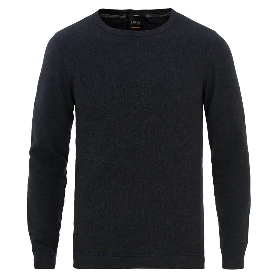 BOSS Casual Tempest Waffle Long Sleeve Sweater