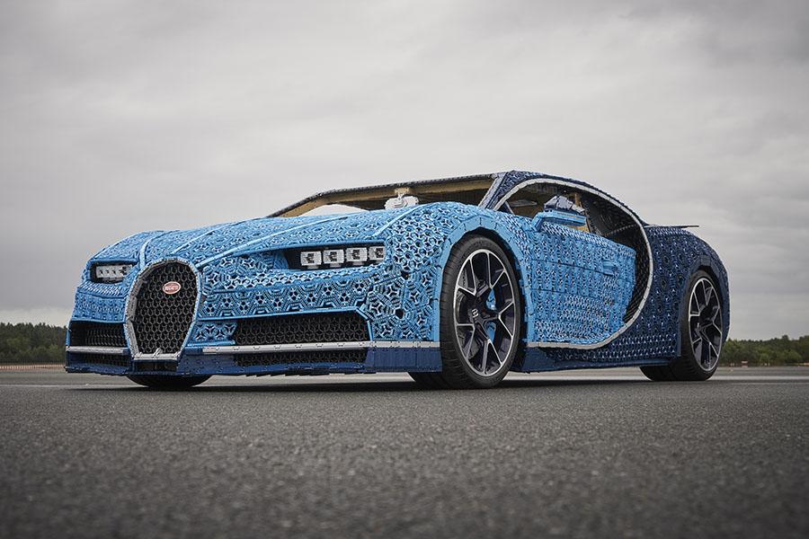 Bugatti bygget i lego