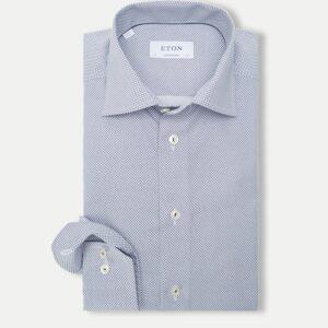 Eton Contemporary Fit - Poplin skjorte i blå