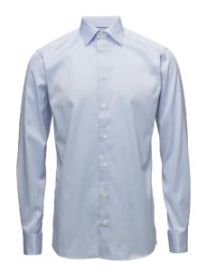 Eton Slim - Signature Twill Dress Skjorte i Blå