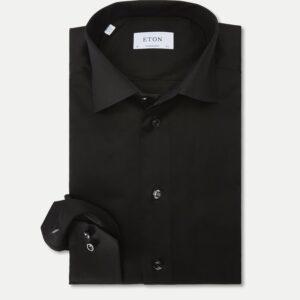 Eton Contemporary Signature Twill Dress Skjorte i Sort