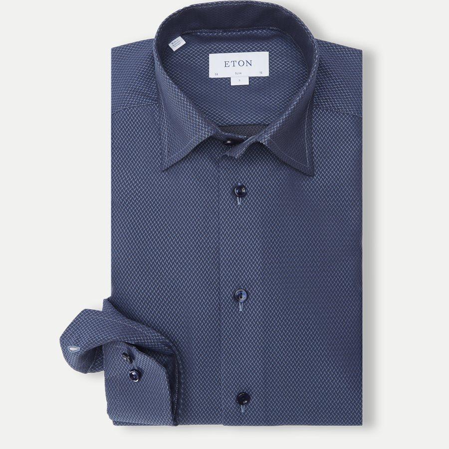 Eton signature Twill skjorte blå