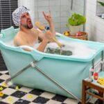 Sammenfoldeligt badekar
